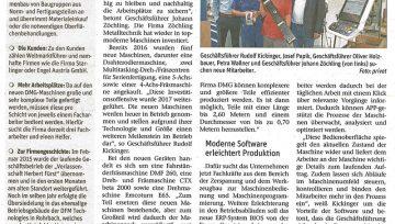 Zeitungsbericht Zöchling Metalltechnik