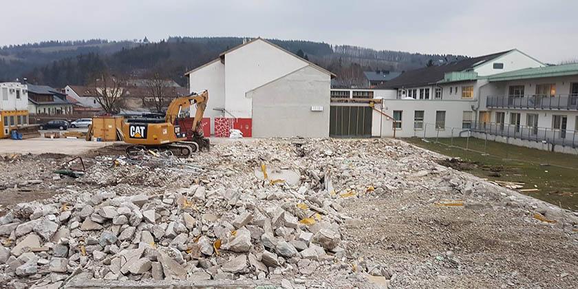 Abbruch Landespflegeheim Hainfeld