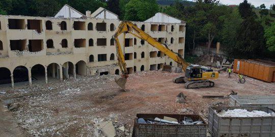 Abbruch Hotel Caruso Baden
