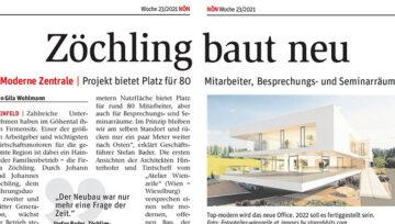 Bericht NÖN 24-2021 - Neubau Zöchling Firmenzentrale
